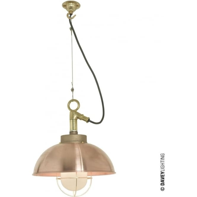 Davey Lighting 7222 Shipyard Pendant, Copper, Frosted
