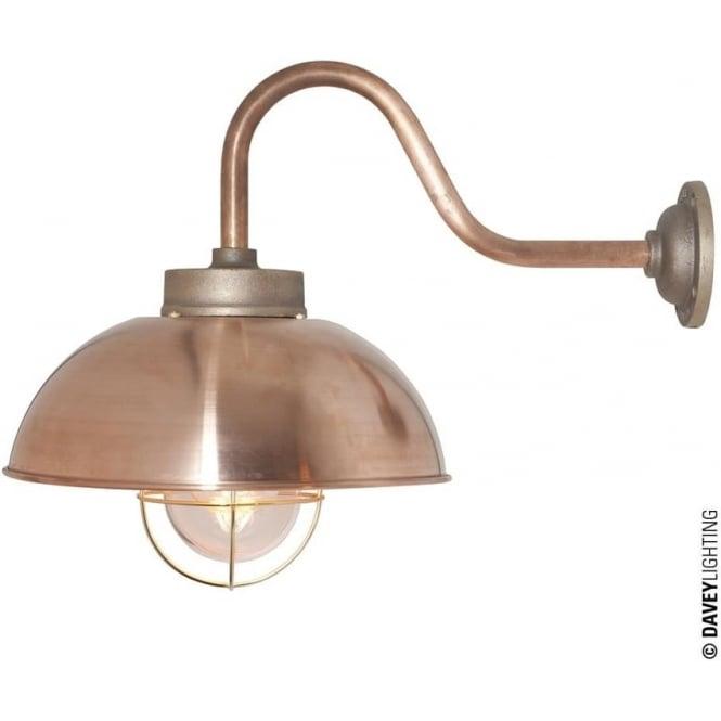 Davey Lighting 7222 Shipyard Wall Light, Copper, Clear