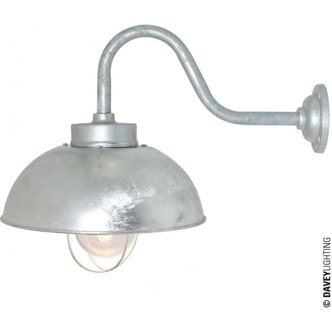 Davey Lighting 7222 Shipyard Wall Light, Galvanised, Clear