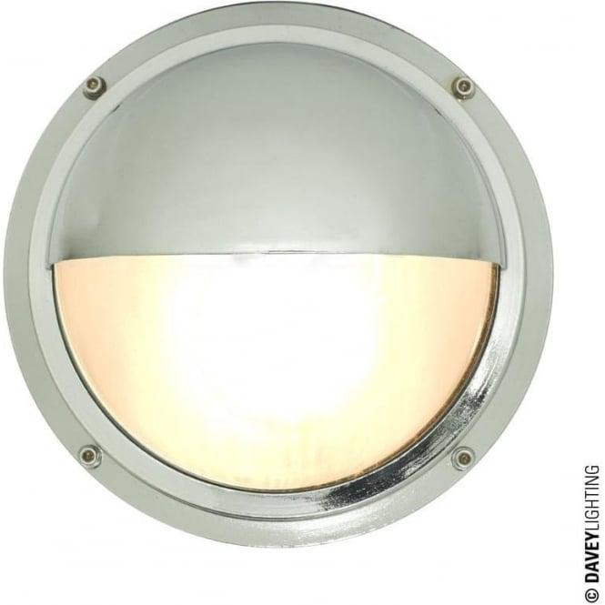 Davey Lighting 7225 Brass Bulkhead with Eyelid Shield, Chrome Plated