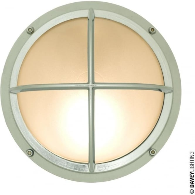 Davey Lighting 7226 Brass Bulkhead with Cross Guard, Chrome Plated, G24
