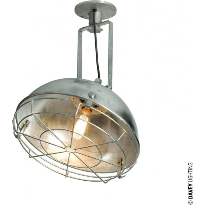Davey Lighting 7238 Steel Working Wall Light with Protective Guard