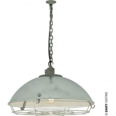 7242 Cargo Cluster Light With Protective Guard, 1xE27, Galvanised, IP44