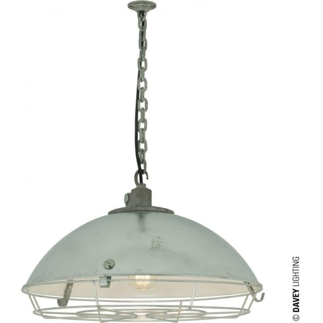 Davey Lighting 7242 Cargo Cluster Light With Protective Guard, 1xE27, Galvanised