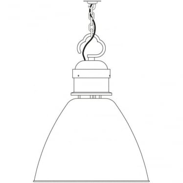 7380 Pendant, Large, Light Grey