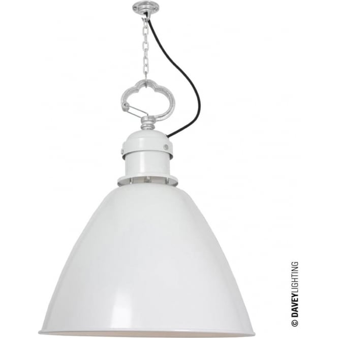 Davey Lighting 7380 Pendant, Large, White