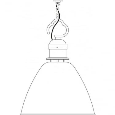7380 Pendant, Medium, Light Grey