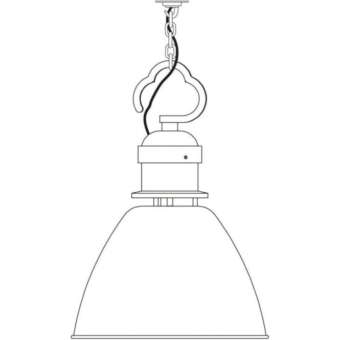 Davey Lighting 7380 Pendant, Small, Light Grey