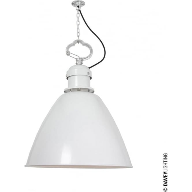 Davey Lighting 7380 Pendant, Small, White