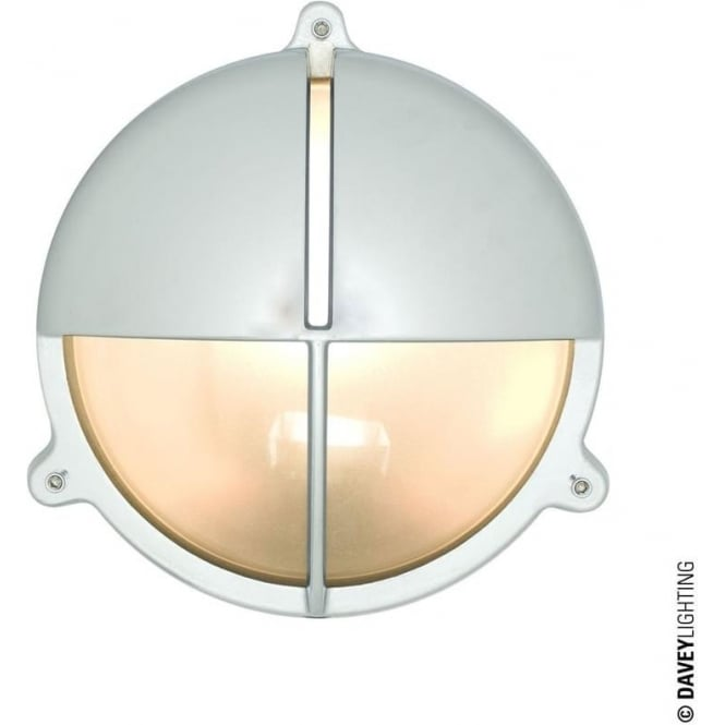 Davey Lighting 7428 Brass Bulkhead with Eyelid Shield, Chrome Plated