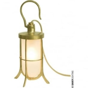 7521 Ship's Hook Light, Polished Brass, Frosted Glass