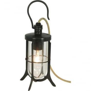 7521 Ship's Hook Light, Weathered Brass, Clear Glass
