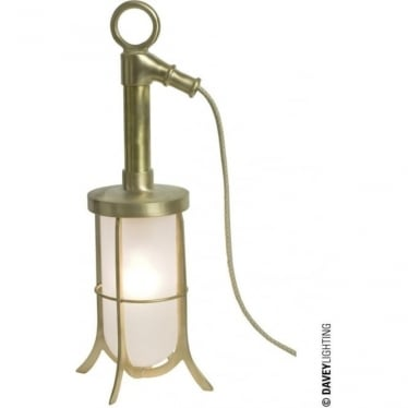 7523 Ship's Well Glass Light, Polished Brass, Frosted Glass