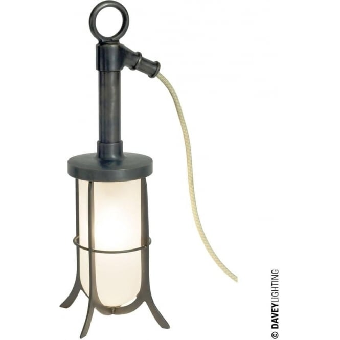 Davey Lighting 7523 Ship's Well Glass Light, Weathered Brass, Frosted Glass