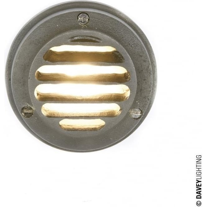 Davey Lighting 7567 Step/Path Light, LED, Weathered Brass low voltage