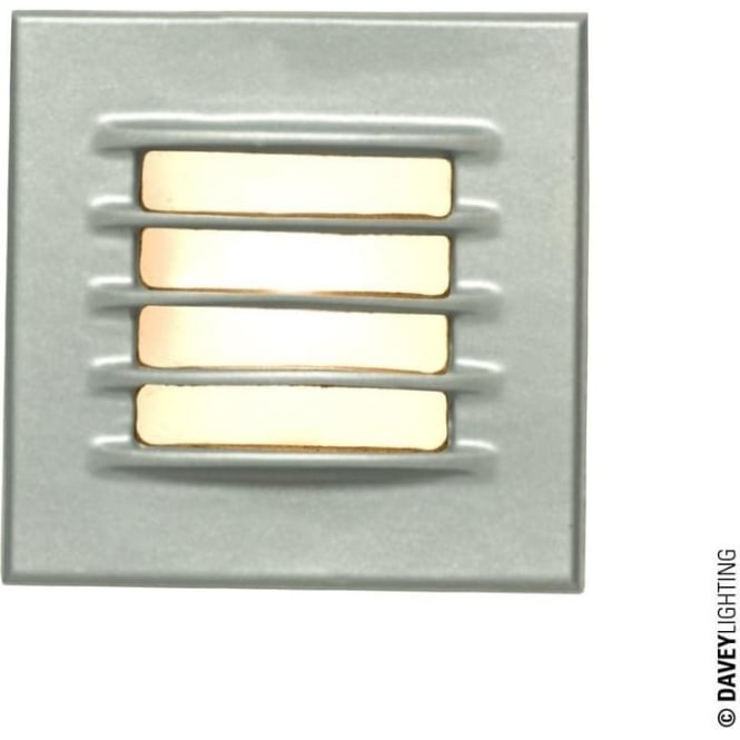 Davey Lighting 7600 Recessed Step Light, Low Voltage, Painted Silver, IP20
