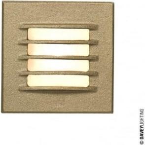 7600 Recessed Step Light, Low Voltage, Sandblasted Bronze, IP20