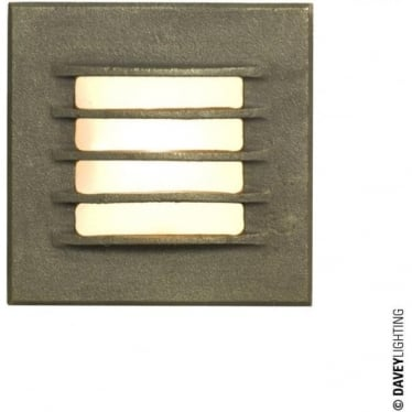 7600 Recessed Step Light, Low Voltage, Weathered Bronze, IP20