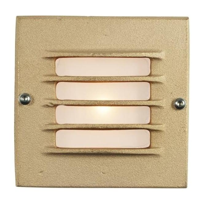 Davey Lighting 7601 Recessed Step Light, Low Voltage, Transformer & Back Box, Sandblasted Bronze, IP54
