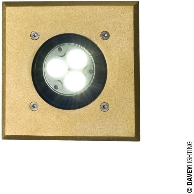 Davey Lighting 7602 Uplight for Submerged or Surface use, GU10, Brass