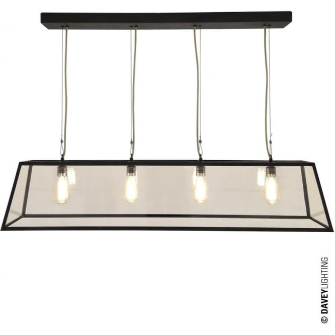 Davey Lighting 7632 Diner, Internally Glazed 125, Weathered Brass, Clear glass