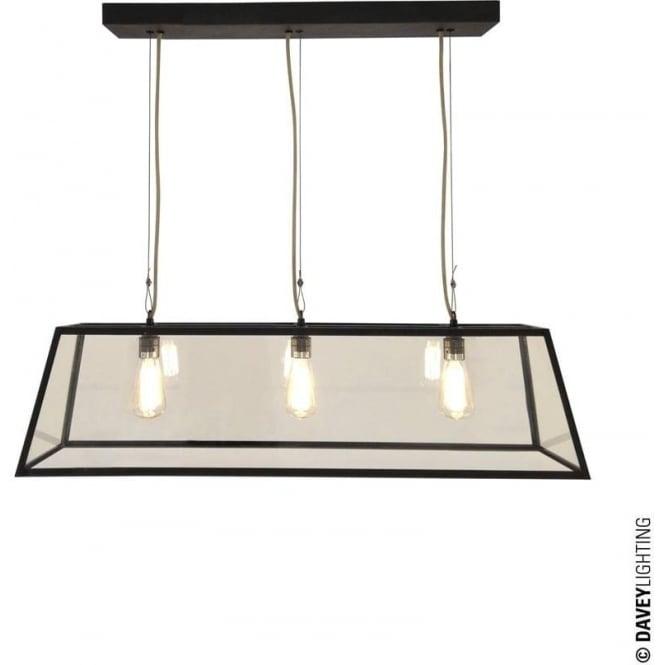 Davey Lighting 7632 Diner, Internally Glazed 75, Weathered Brass, Clear glass