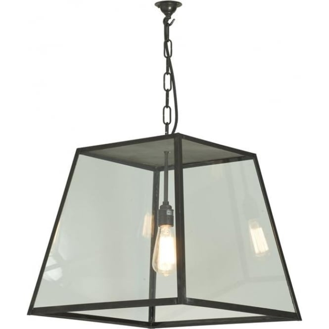 Davey Lighting 7635 Quad Large, Closed Top, Weathered Brass, Clear