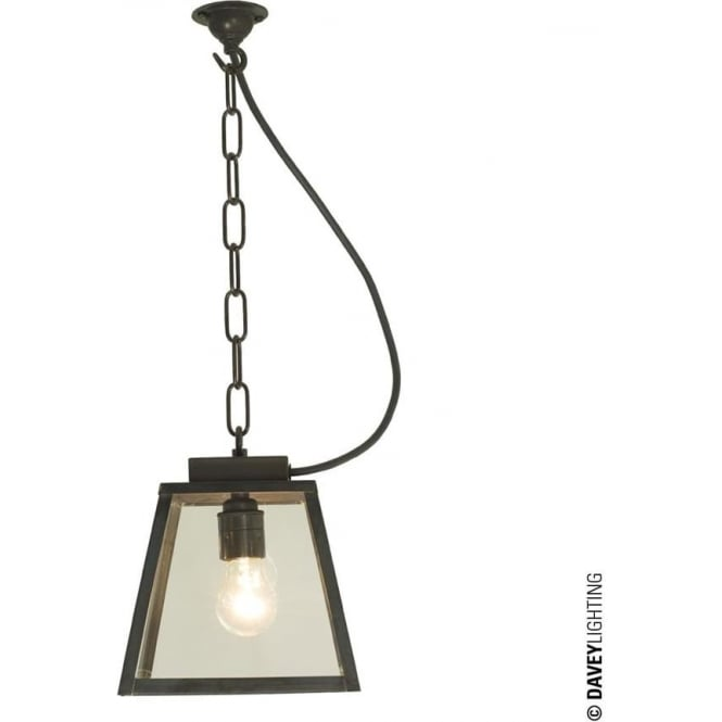 Davey Lighting 7635 Quad Small, Closed Top, Weathered Brass, Clear