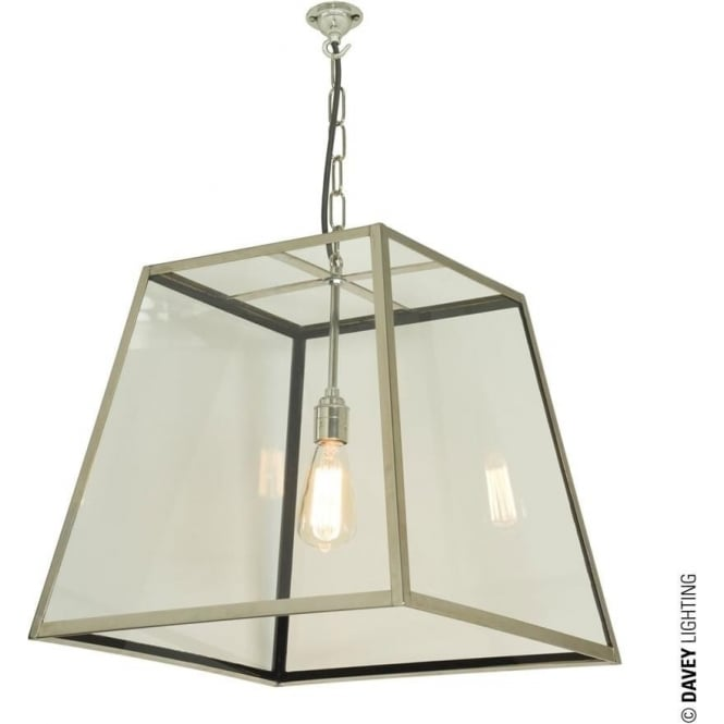 Davey Lighting 7636 Quad Pendant, Large, Polished Nickel, Clear