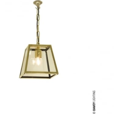 7636 Quad Pendant, Small, Polished Brass, Clear