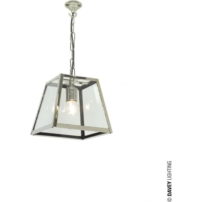 Davey Lighting 7636 Quad Pendant, Small, Polished Nickel, Clear