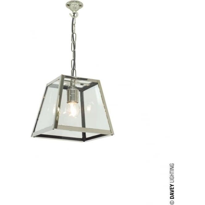 Davey Lighting 7636 Quad Pendant, Small, Satin Nickel, Clear