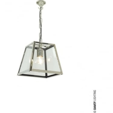 7636 Quad Pendant, Small, Satin Nickel, Clear