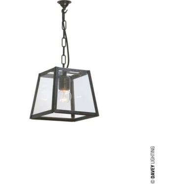 7636 Quad Pendant, Small, Weathered Brass, Clear