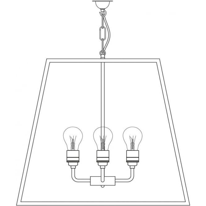 Davey Lighting 7636 Quad Pendant, XL, Polished Nickel, Clear