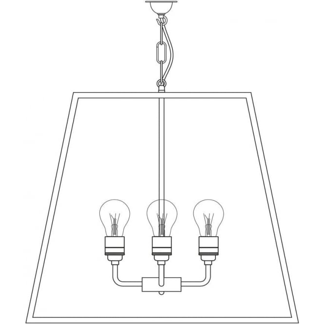 Davey Lighting 7636 Quad Pendant, XL, Satin Nickel, Clear