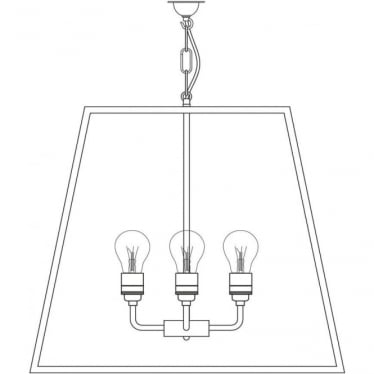 7636 Quad Pendant, XL, Satin Nickel, Clear