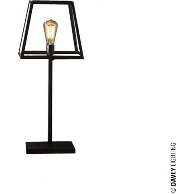 Davey Lighting 7636 Quad Table Light, Weathered Brass, Clear