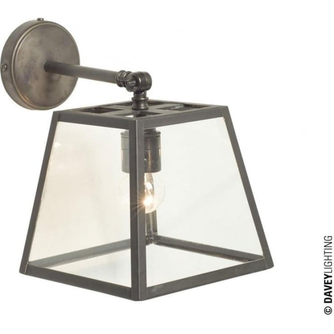 Davey Lighting 7636 Quad Wall Light, Weathered Brass, Clear