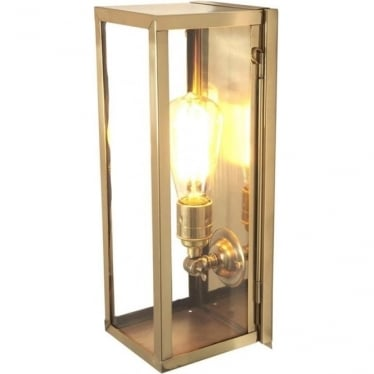 7650 Narrow Box, Internally Glazed Clear, Polished Brass