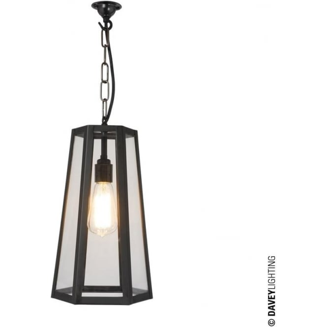 Davey Lighting 7651 Hex Pendant, Weathered Brass