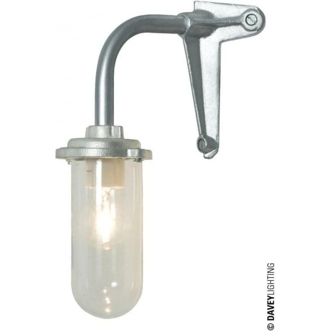 Davey Lighting 7672 Bracket Light, 60W, Corner Fork, Galvanised, Clear