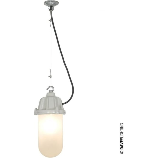 Davey Lighting 7674 Dockside Pendant, Putty Grey, Frosted