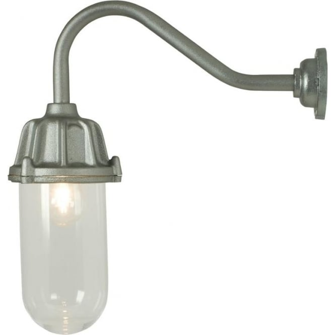 Davey Lighting 7674 Dockside Wall Light, No Reflector, Anodised Aluminium, Clear