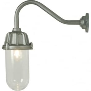 7674 Dockside Wall Light, No Reflector, Anodised Aluminium, Clear