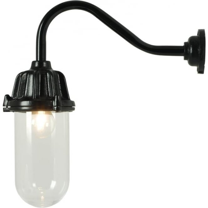 Davey Lighting 7674 Dockside Wall Light, No Reflector, Black, Clear
