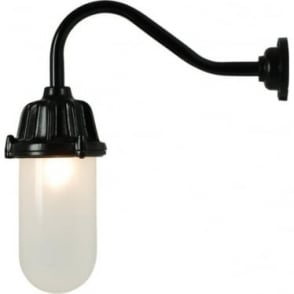 7674 Dockside Wall Light, No Reflector, Black, Frosted