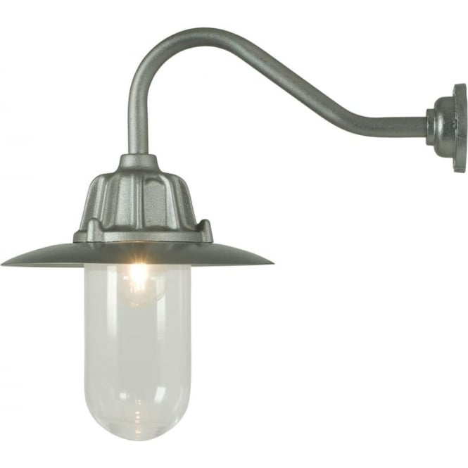 Davey Lighting 7675 Dockside Wall Light, With reflector, Anodised Aluminium, Clear