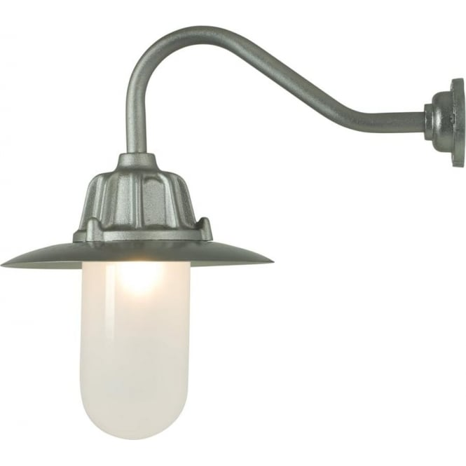 Davey Lighting 7675 Dockside Wall Light, With reflector, Anodised Aluminium, Frosted