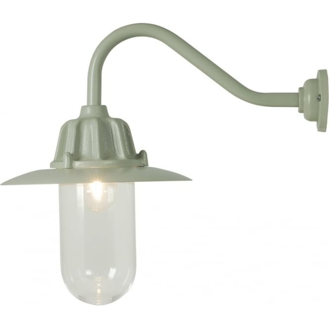 Davey Lighting 7675 Dockside Wall Light, With reflector, Putty Grey, Clear